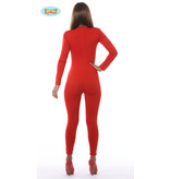 Rode Second Skin Jumpsuit Lang Vrouw