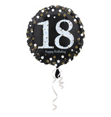 Folieballon 18 jaar Happy Birthday 43cm