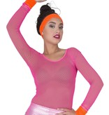 80's zweetband set neon oranje