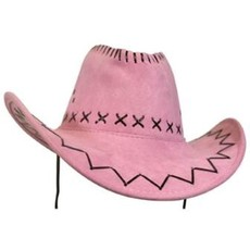 Cowboyhoed suede lichtroze