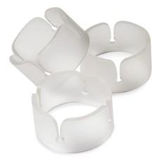 Ballon clip ringen transparant - 6 stuks