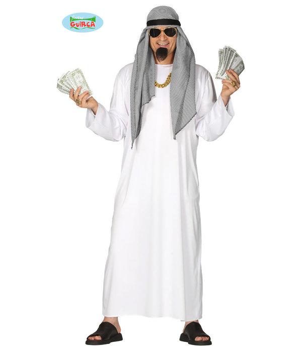 Arabische Olie Sjeik Kostuum Man
