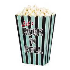 Rock 'n Roll popcorn bakjes