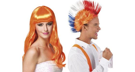 Oranje - Holland pruik