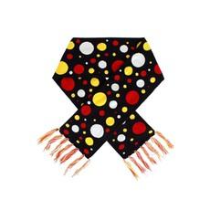 Oeteldonk sjaal rood/wit/geel confetti