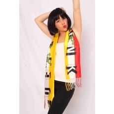 Sjaal rood/wit/geel Oeteldonk 145x21 cm