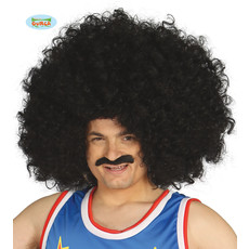 Grote Afro Pruik Mario Zwart