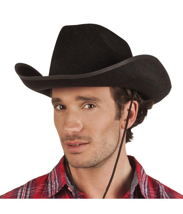 Hoed vilt Cowboy zwart