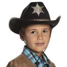 Kinderhoed Butch Sheriff junior zwart