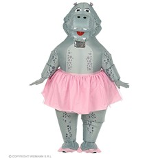 Opblaasbare Ballerina Nijlpaard kostuum