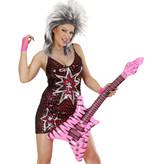 Opblaasbare rock gitaar roze