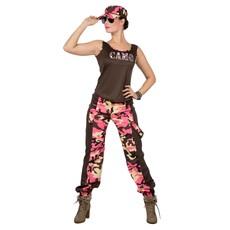 Soldaat Camouflage Kostuum Vrouw Roze