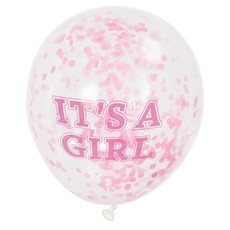 Confetti ballon It's A Girl 30cm (6st)
