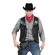 Cowboy Vest zwart volwassen