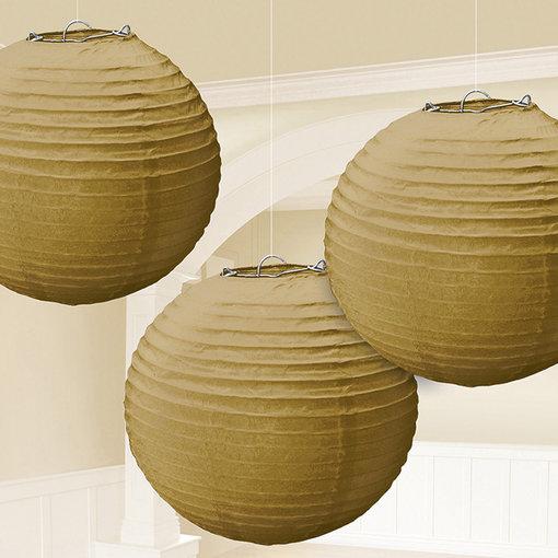 3 gouden lampionnen 21cm