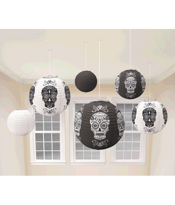 6 lampionnen Day of the Dead