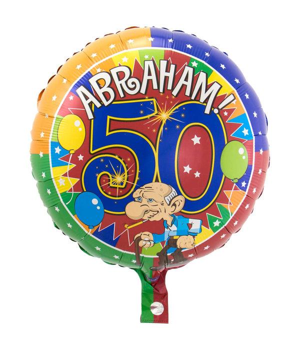 50 Jaar Abraham Knalfeest folieballon - 43cm