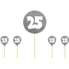 25 jaar taartdecoratie zilver versiering