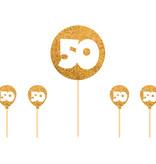 50 jaar taartdecoratie gouden versiering