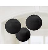3 Bollampionnen zwart 21cm