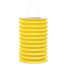 Papieren treklampion geel (15 cm)