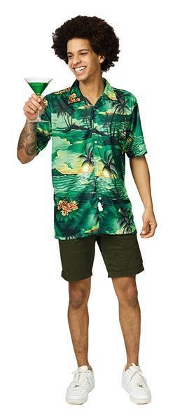 Hawaii blouse groen