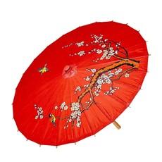 Oosterse Paraplu Rijstpapier Rood