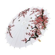 Oosterse Paraplu Rijstpapier Wit