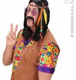 Hippie/Indiaan hoofdband met kraaltjes en veren