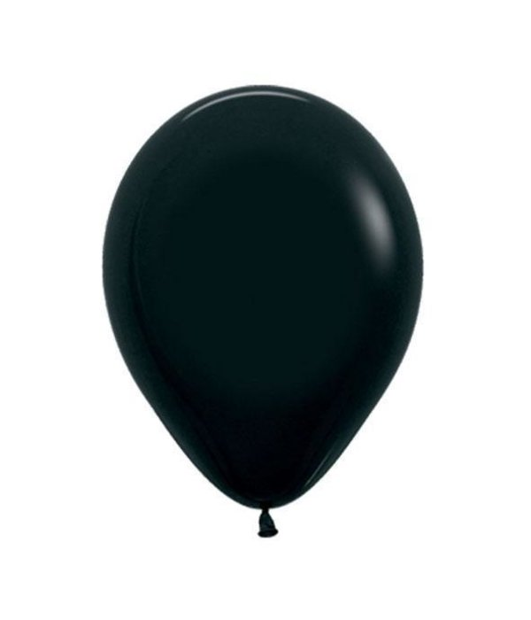 Ballonnen zwart 12 stuks 30cm