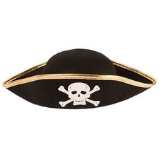 Piratenhoed junior vilt