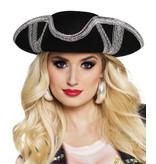 Hoed Piraat Royal fortune zilver