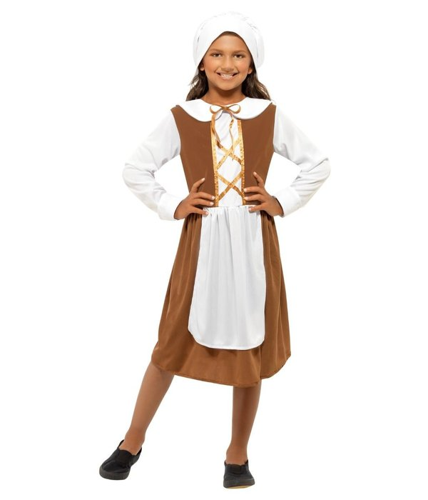 Middeleeuws boerin meisje