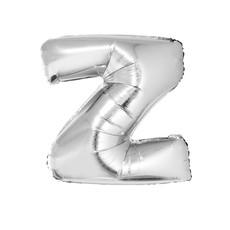 Folieballon Zilver Letter 'Z' groot