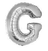 Folieballon Zilver Letter 'G' Groot