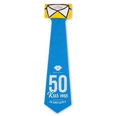 Stropdas 50 jaar Kus Me! Man