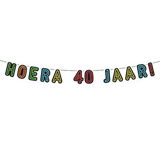 Neon Slinger Hoera 40 jaar