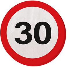Servetten verkeersbord 30 jaar