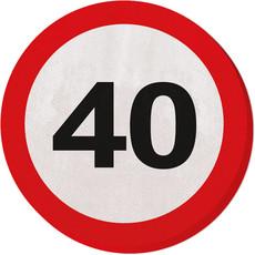 Servetten Verkeersbord 40 jaar