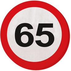 Servetten verkeersbord 65 jaar