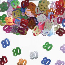 80 Jaar Tafeldecoratie / Sierconfetti
