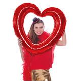 Folieballon Hartvormige Fotolijst Rood