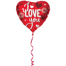 Hartvormige Folieballon I Love You - 45 cm
