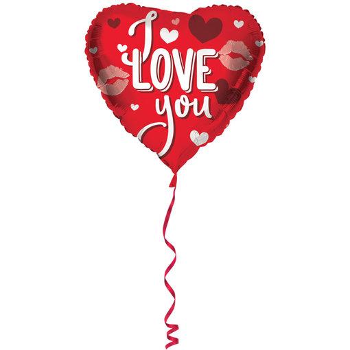 Hartvormige Folieballon I Love You - 45 cm