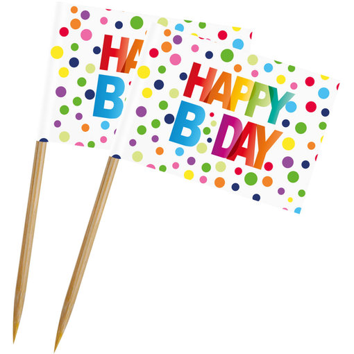 Happy Birthday Prikkers - 50 Stuks