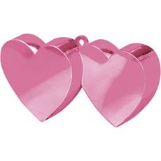 Ballongewicht dubbel hart roze 150gr