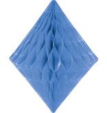 Honeycomb Diamant Blauw -30cm