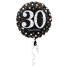FolieBallon 30 jaar happy birthday sparkling gold 43cm