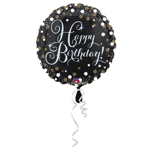 Happy Birthday folieballon gold 43cm