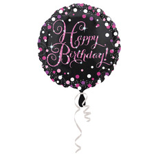 Happy Birthday folieballon pink 43cm